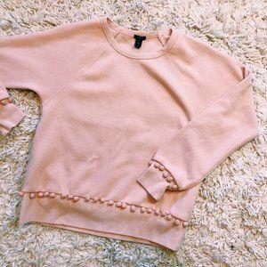 J. Crew Bubble Gum Pink Bauble Sweatshirt
